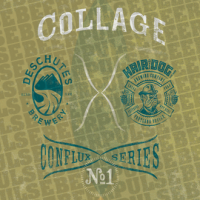 Collage Conflux No 1 Deschutes Boulevard label