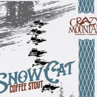 Crazy Mountain SnowCat Coffee Stout Bomber Label