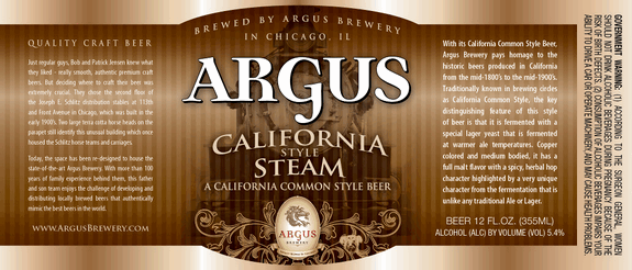 Argus California Common Steam Beer | BeerPulse