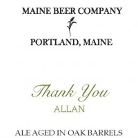 maine beer thank you allan