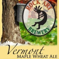 rock art vermont maple wheat ale label