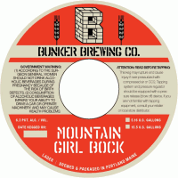 Bunker Mountain Girl Bock