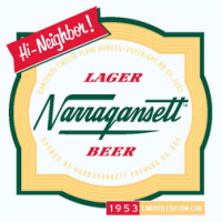 Narragansett Lager 1953 Retro Can