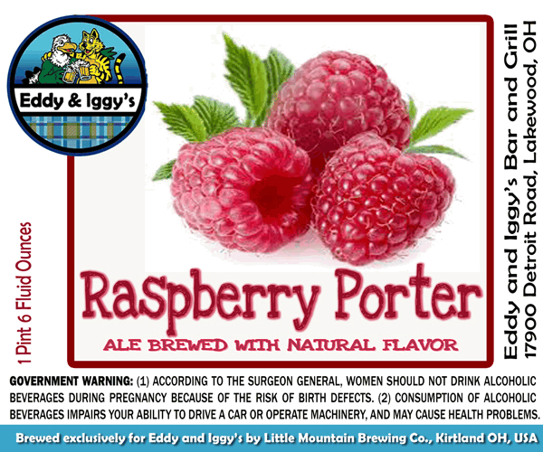 Eddy and Iggy's Raspberry Porter  BeerPulse