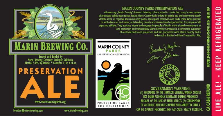 marin preservation ale label