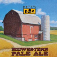 Bell's Midwestern Pale Ale mini-keg label
