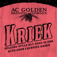 ac golden kriek bottle label