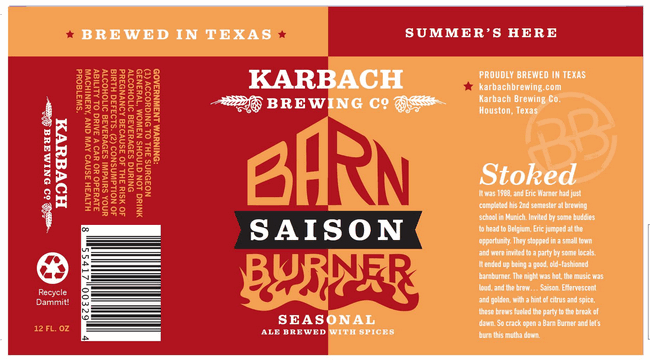 Karbach Barn Burner Saison Cans Roll Out In Early March