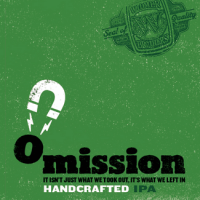 Omission IPA gluten free beer label