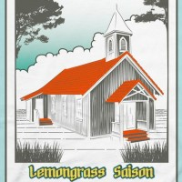 maui lemongrass saison beer can label