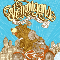 Indeed Shenanigans Summer Ale label