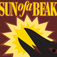Sun of a Beak beer label