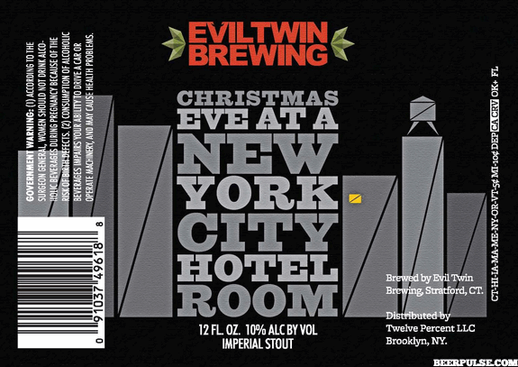 Christmas New York City Hotel Room Beer