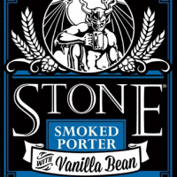 Stone Smoked Porter with Vanilla Bean label BeerPulse