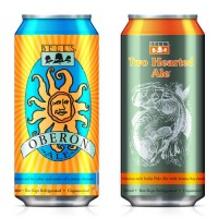 Bell's Oberon and Two Hearted Ale cans