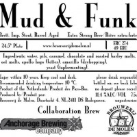 De Molen Mud and Funky Brett Imperial Stout Barrel Aged