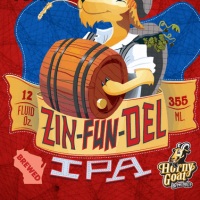 Horny Goat Zin-Fun-Del IPA label