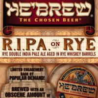 He'Brew R.I.P.A. on Rye Double IPA Aged in Rye Whiskey Barrels