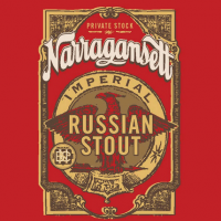 Narragansett Imperial Russian Stout label