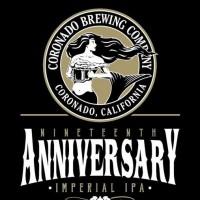 Coronado Nineteenth Anniversary Imperial IPA label BeerPulse