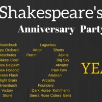shakespeares pub Anniversary email