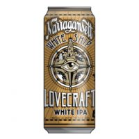 Narragansett Lovecraft White IPA can