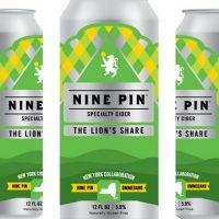 Nine Pin Cider Ommegang The Lion's Share cider cans BeerPulse