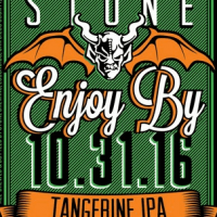 Stone Enjoy By 10-31-16 Tangerine IPA label