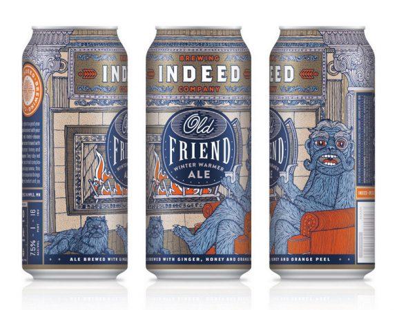 Indeed Old Friend Winter Warmer cans BeerPulse