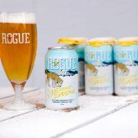 Rogue Yellow Snow Pilsner cans BeerPulse