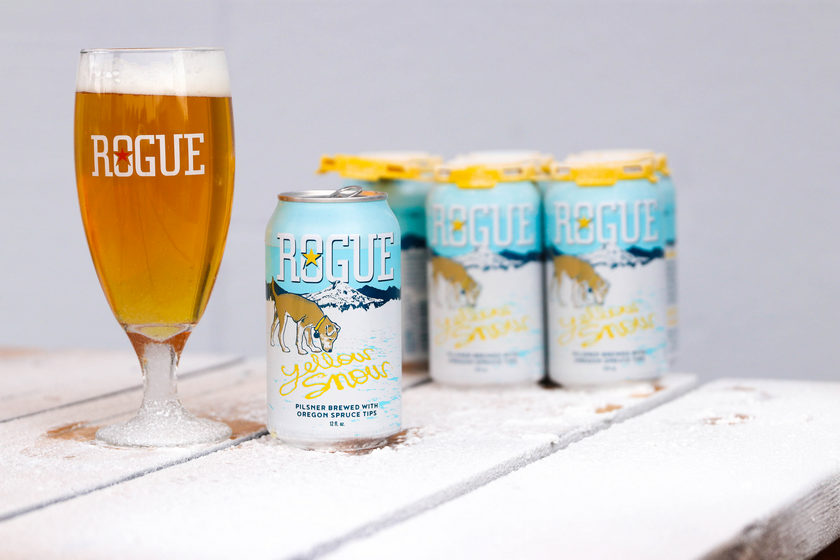 Rogue Yellow Snow Spruce Tip Pilsner Now Available Beerpulse