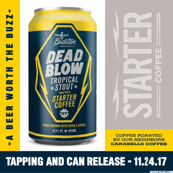 Braxton Dead Blow Tropical Stout Starter Coffee can BeerPulse