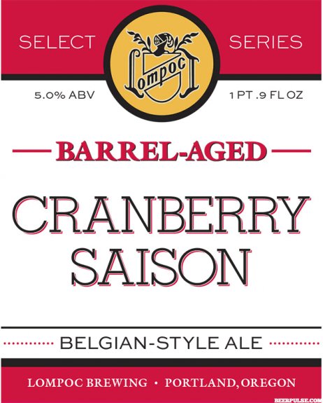 Lompoc Barrel-Aged Cranberry Saison label BeerPulse