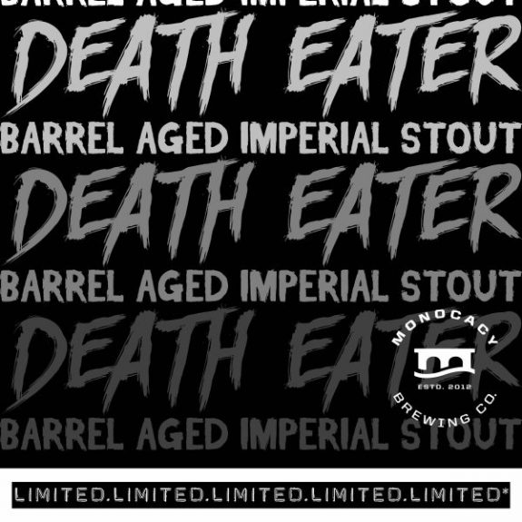 Monocacy Death Eater BA Imperial Stout label BeerPulse