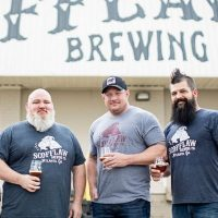 Scofflaw Brewing l. to r. -- Joe McIntyre, J.P. Watts, Co-founders Matt Shirah, Travis Herman BeerPulse