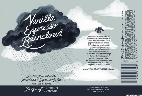 Foolproof Brewing Vanilla Espresso Raincloud label