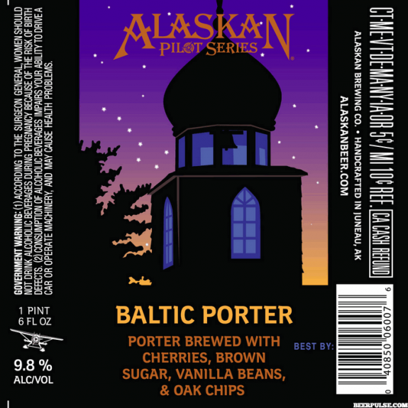 Alaskan Baltic Porter label BeerPulse