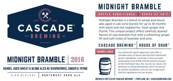 Cascade Midnight Bramble 2016 label BeerPulse