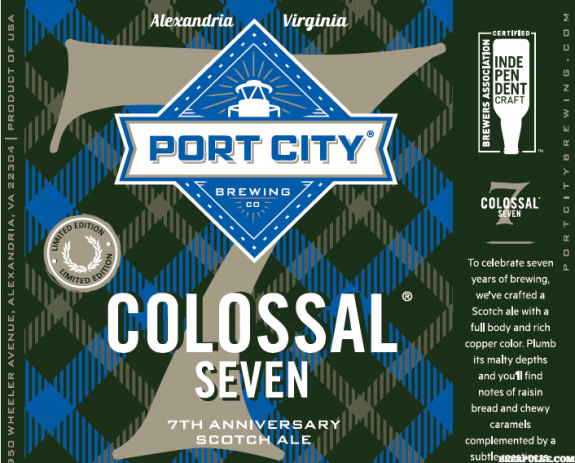 Port City Colossal Seven label BeerPulse