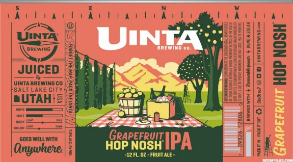 Uinta Grapefruit Hop Nosh IPA label BeerPulse