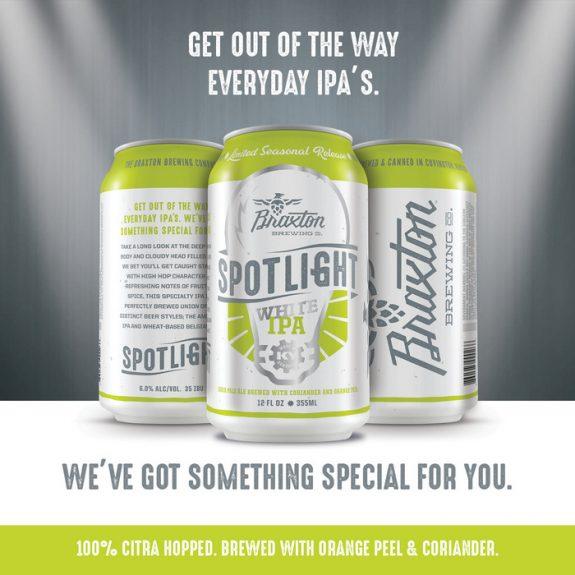 Braxton Spotlight White IPA cans BeerPulse