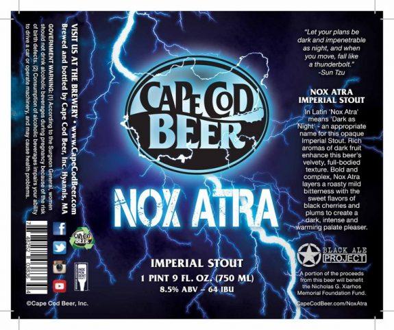 Cape Cod Nox Atra Imperial Stout label BeerPulse