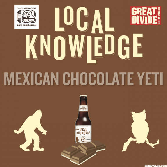 Great Divide Mexican Chocolate Yeti just released first in 2018 Local Knowledge Series
