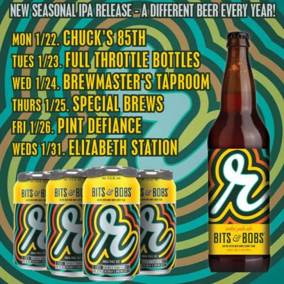 Reuben's Brews Bits and Bobs IPA coming soon, available through April