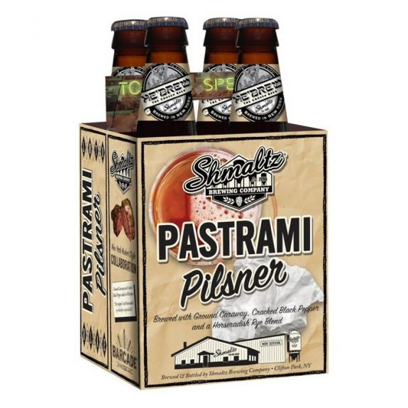Shmaltz Brewing and Barcade's Pastrami Pilsner launches nationally next week