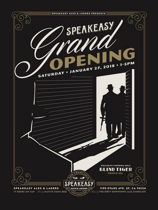 Speakeasy Blind Tiger Triple IPA to debut at Grand Opening on Sat., Jan. 27