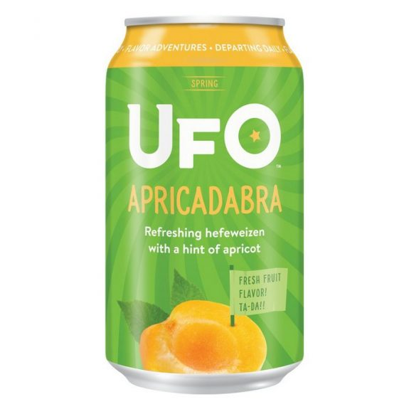 UFO Apricadabra introduced as spring seasonal in cans, bottles, draft and Jet Pack