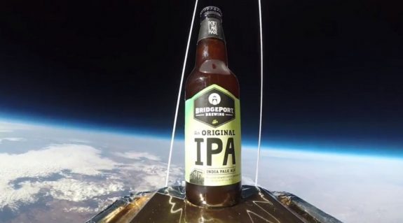 BridgePort IPA beer bottle in space BeerPulse