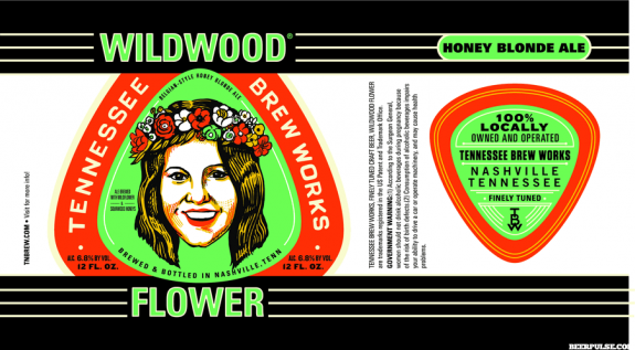 Tennessee Brew Works Wildwood Flower Label BeerPulse