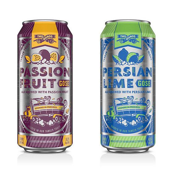 Two Roads Passion Fruit Gose Persian Lime Gose BeerPulse